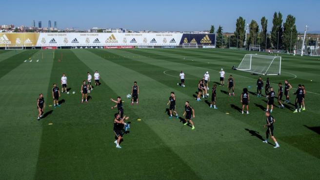 Entrenamiento del Real Madrid en la Ciudad Deportiva de Valdebebas.