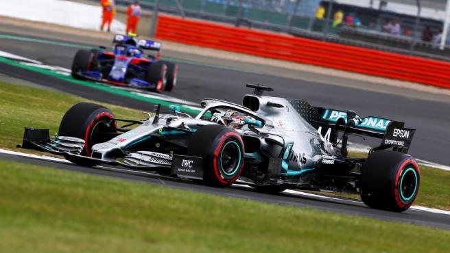 Lewis Hamilton, durante el GP de Gran Bretaña.
