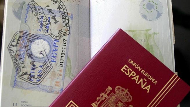 Imagen de archivo del pasaporte español.