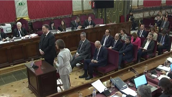 El interrogatorio a Junqueras en el juicio por el procés.