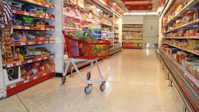 Interior de un supermercado DIA.