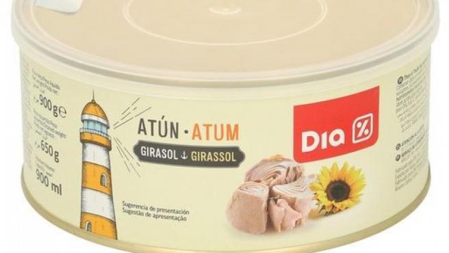 La lata de atún de la marca DIA retirada por botulismo.
