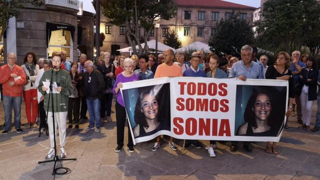 Manifestación en Pontevedra por el noveno aniversario de la desaparición de Sonia Iglesias