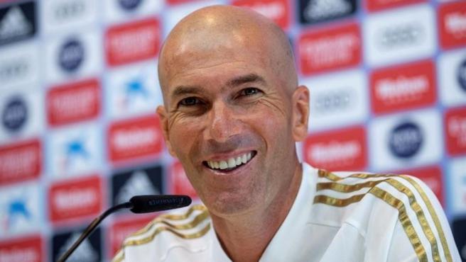 Zinedine Zidane durante la rueda de prensa previa al encuentro frente al Valladolid.cc