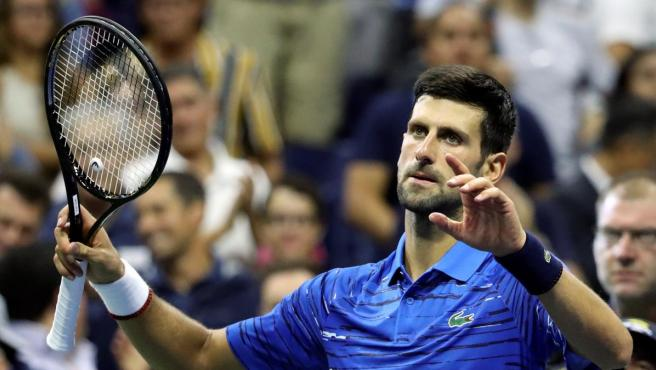 Novak Djokovic, durante el US Open 2019.