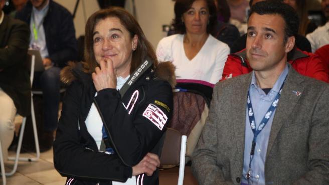 La exesquiadora Blanca Fernández Ochoa, en un evento dedicado a su hermano.