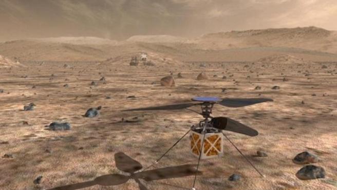 El helicóptero que la NASA enviará a Marte en 2020.