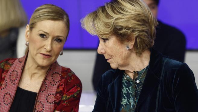 Cristina Cifuentes y Esperanza Aguirre en una imagen de archivo.