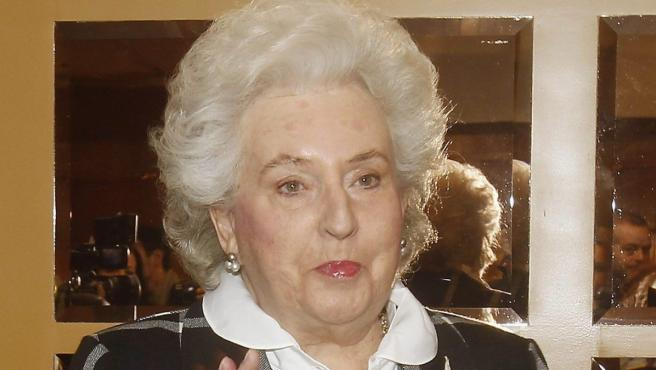 La infanta Pilar de Borbón.