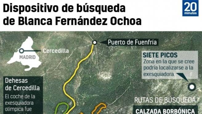 Dispositivo de búsqueda de Blanca Fernández Ochoa.