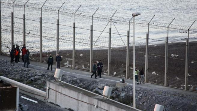 Valla fronteriza de Ceuta.