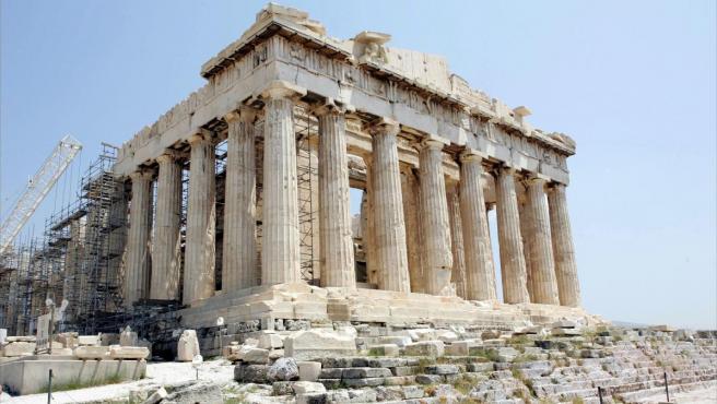 El Partenón en la Acrópolis de Atenas.