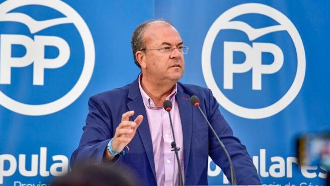José Antonio Monago, expresidente de la Junta de Extremadura y presidente del Partido Popular de Extremadura.