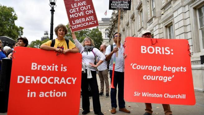 Manifestación pro 'brexit' en Londres.