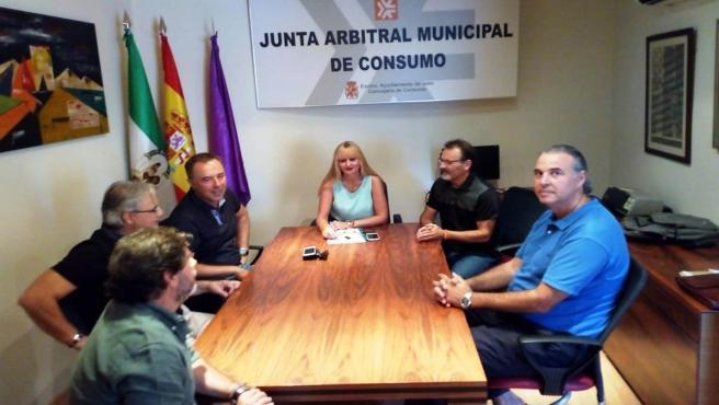 Reunión sobre las obras en Roldán y Marín.
