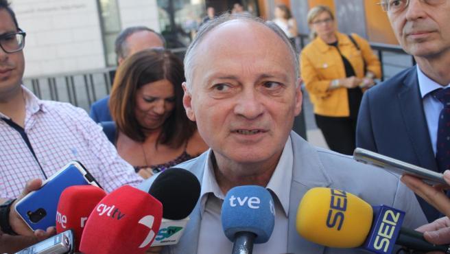 Faustino Temprano en Soria en la jornada 'La España Vaciada: retos y propuestas' organizada por UGT.