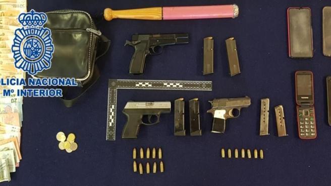 Armas incautadas por la Policía
