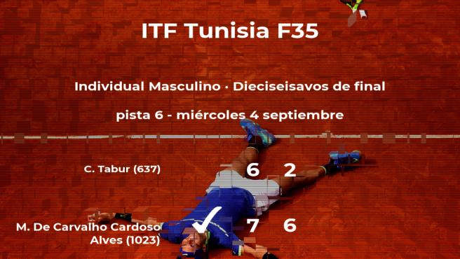El tenista Mateus De Carvalho Cardoso Alves vence en los dieciseisavos de final del torneo de Tabarka