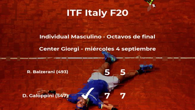 El tenista Davide Galoppini estará en los cuartos de final del torneo de Trieste