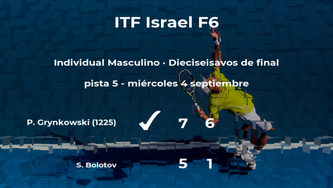 El tenista Piotr Grynkowski pasa a la próxima fase del torneo de Sajur tras vencer en los dieciseisavos de final