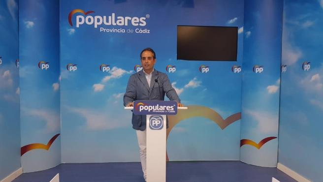 Antonio Saldaña, portavoz del PP en la Diputación de Cádiz