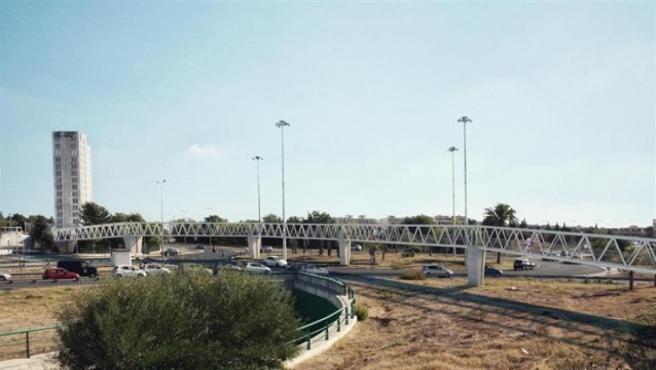 Recreación virtual de la pasarela de Ciudad Expo