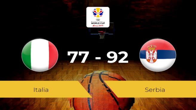Italia-Serbia: resultado final 77-92