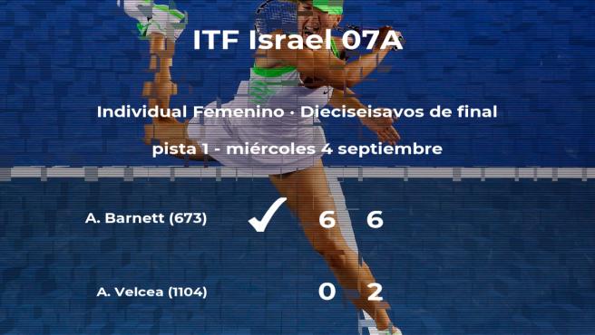 Alicia Barnett pasa a la siguiente ronda del torneo de Sajur tras vencer en los dieciseisavos de final