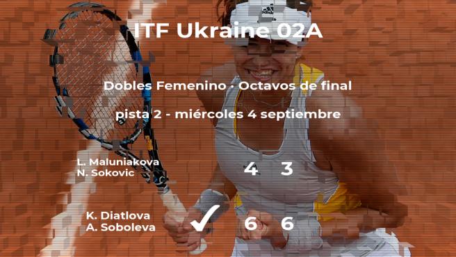Las tenistas Diatlova y Soboleva estarán en los cuartos de final del torneo de Bucha