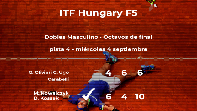 Kowalczyk y Kossek consiguen la plaza de los cuartos de final a costa de Olivieri y Ugo Carabelli