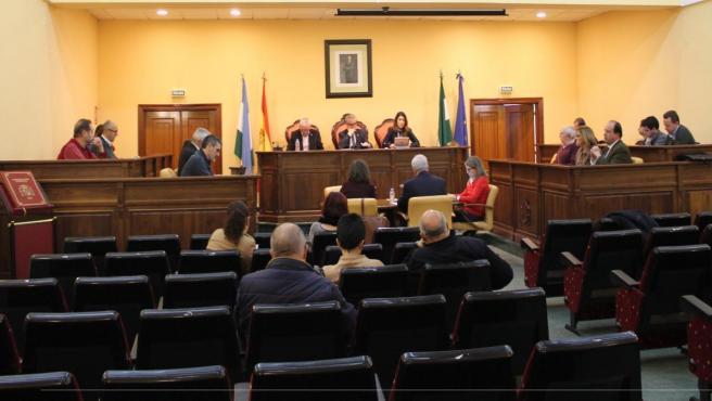 Una sesión del Pleno del Ayuntamiento de Lucena a finales del pasado mandato municipal.