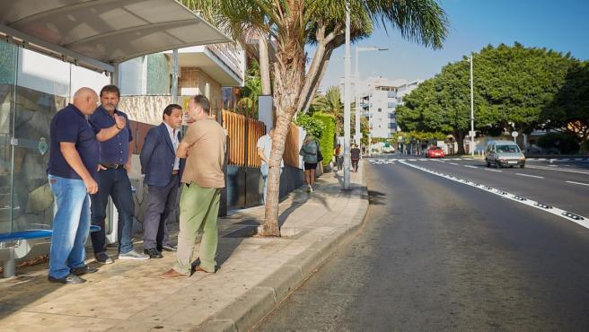 El concejal de Servicios Públicos, José Ángel Martín, en una visita a la avenida Bélgica