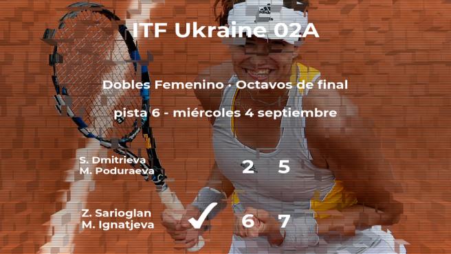 Triunfo para Sarioglan e Ignatjeva en los octavos de final del torneo de Bucha