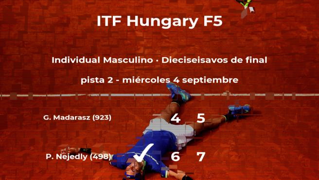 Pavel Nejedly estará en los octavos de final del torneo de Szekesfehervar