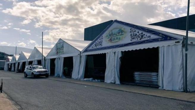 Casetas de la Feria de San Lucas/ Archivo