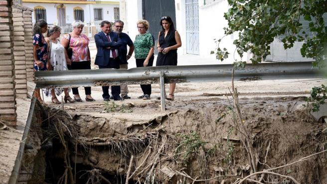 Entrena visita los municipios afectados por las inundaciones
