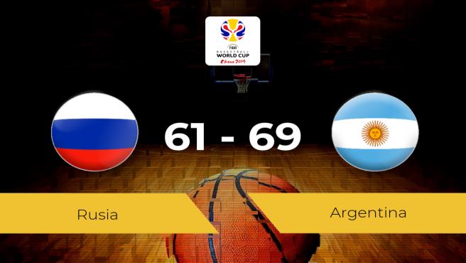 Triunfo de Argentina ante Rusia por 61-69