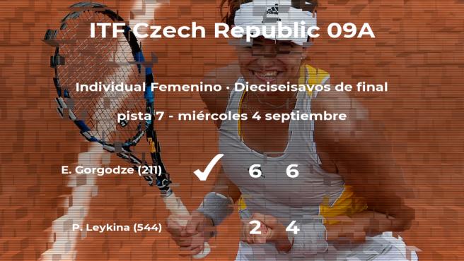 Ekaterine Gorgodze vence en los dieciseisavos de final del torneo de Praga