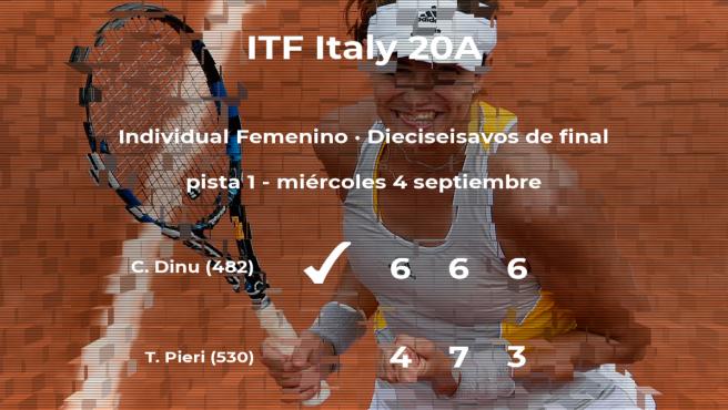 Cristina Dinu se clasifica para los octavos de final del torneo de Trieste