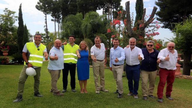 Muñoz visita las obras del hotel ClubMed en Marbella