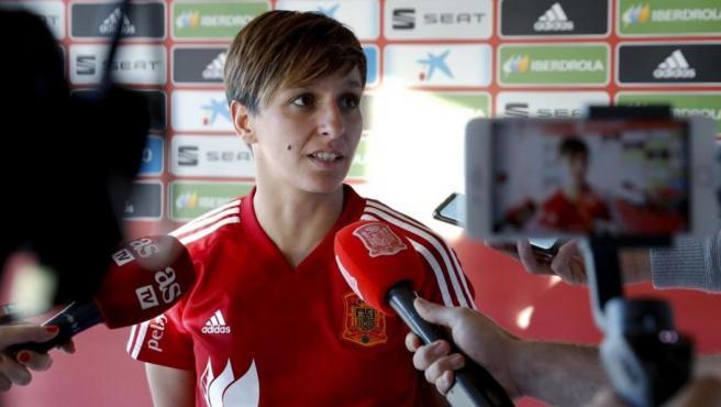 Marta Corredera, jugadora de la selección española de fútbol.