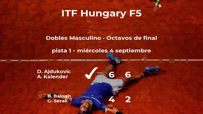 Ajdukovic y Kalender vencen en los octavos de final del torneo de Szekesfehervar