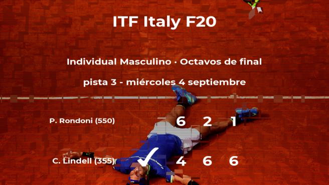 El tenista Christian Lindell se clasifica para los cuartos de final del torneo de Trieste