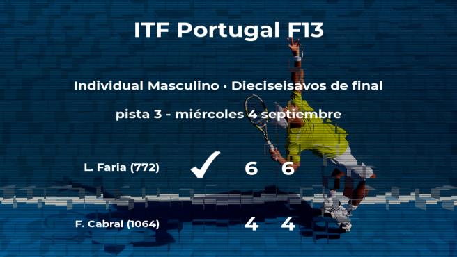 El tenista Luis Faria gana en los dieciseisavos de final del torneo de Sao Bras de Alportel