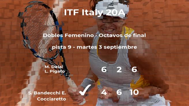 Las tenistas Bandecchi y Cocciaretto logran clasificarse para los cuartos de final a costa de Delai y Pigato