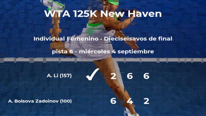 La tenista Aliona Bolsova Zadoinov se despide del torneo de New Haven