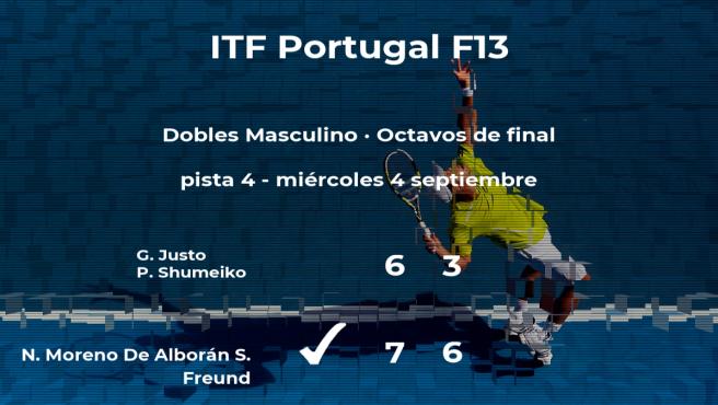 Los tenistas Moreno De Alborán y Freund consiguen su plaza en los cuartos de final del torneo de Sao Bras de Alportel