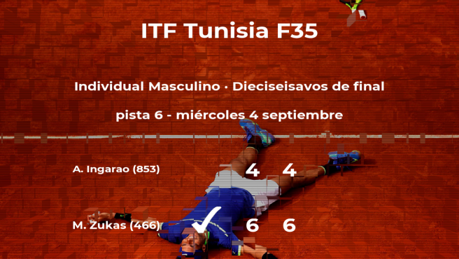 Matias Zukas consigue clasificarse para los octavos de final del torneo de Tabarka