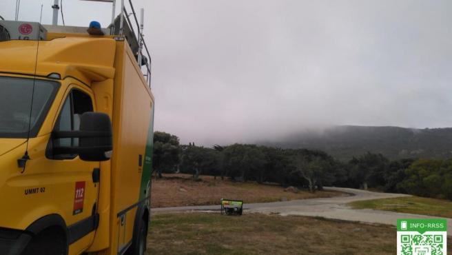 Incendio forestal en un paraje de Tarifa (Cádiz)