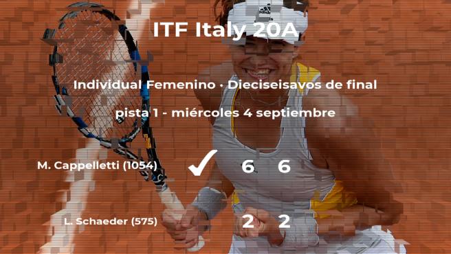 Monica Cappelletti pasa a los octavos de final del torneo de Trieste